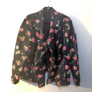 Faux Leather Rose Jacket